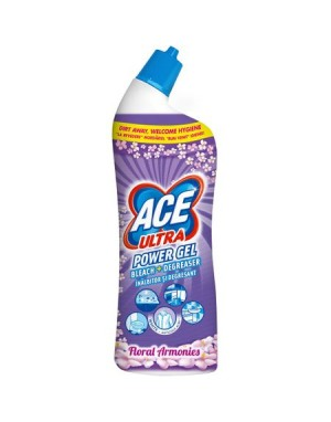Inalbitor si detergent toaleta Ace Ultra Power Gel Floral, 750 mL