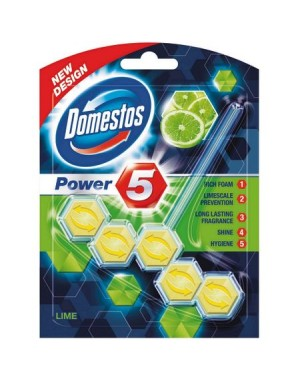 Odorizant toaleta DOMESTOS POWER 5 LIME, 55 g